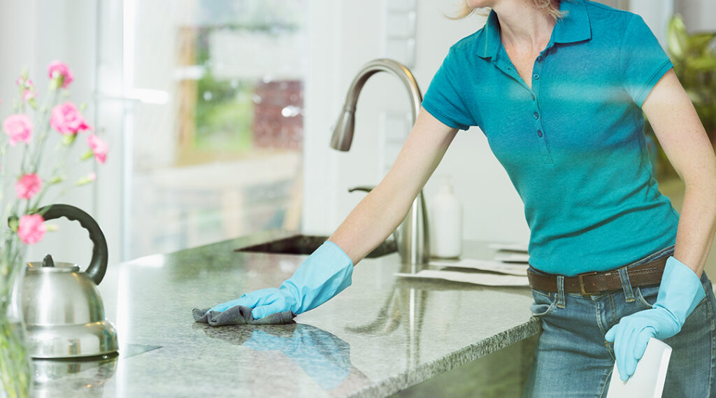 Easy to clean marble countertops